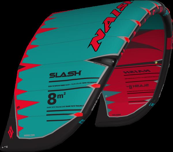 Slash Red Teal